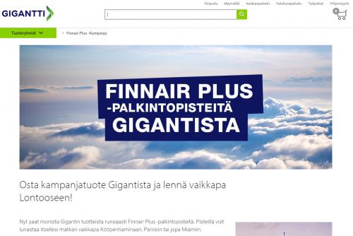 Finnairin ja Gigantin kampanja