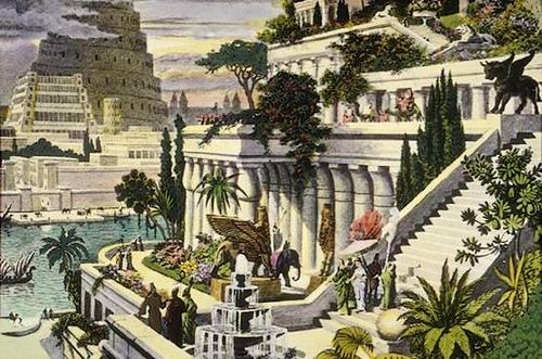 Babylonian riippuvat puutarhat - Martin Heemskerck