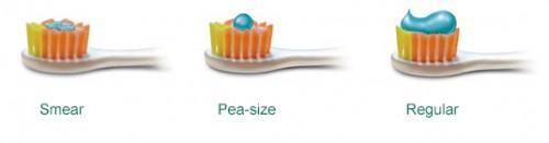 Oikea määrä hammastahnaa