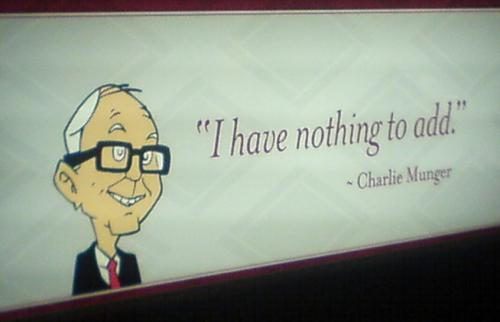 Charlie Munger on samaa mieltä