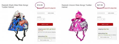 Pinkki pyöräilykypärä on melkein tuplasti kalliimpi
