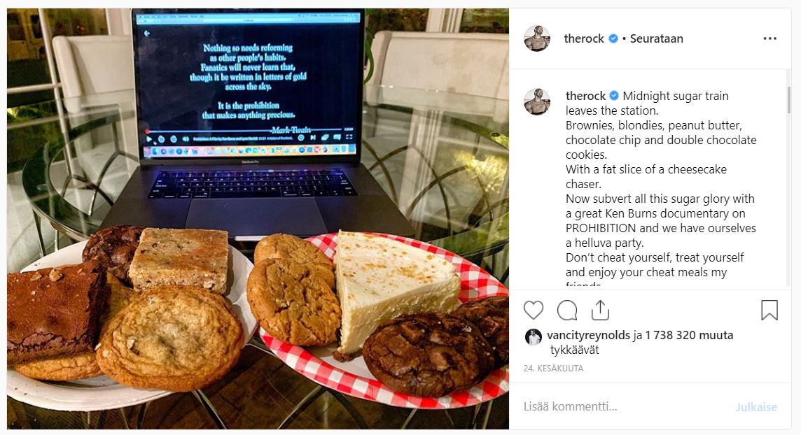 "Dwayne Johnsonin ""Cheat Meal Sunday"""